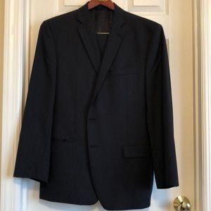 Calvin Klein suit navy with fine pinstripe